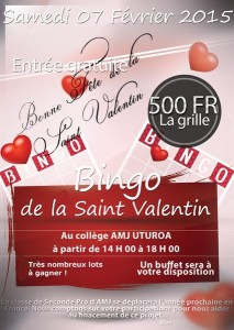 Bingo saint valentin bac pro