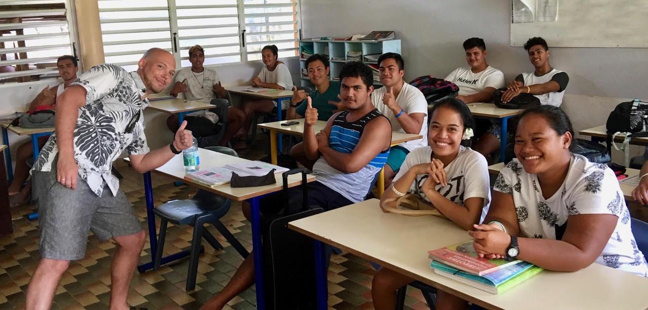 Photo de groupe avec les 1ere STI2D